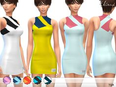 Stretch mesh intarsia stripe dress. 8 different colors. Custom mesh by me.  Found in TSR Category 'Sims 4 Female Everyday'