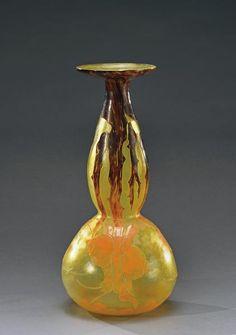 Vases, Art Nouveau, Objet D'art, France, Sculpture Art, Glass Art, Auction, Washington, Vintage