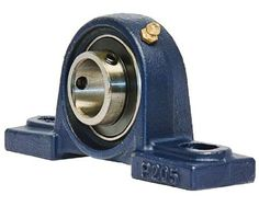 "$9. UCP205-16 Pillow Block Mounted Bearing, 2 Bolt, 1"" Inside Diameter, Set screw Lock, Cast Iron, Inch"