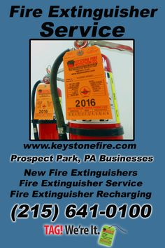 Fire Extinguisher Service Prospect Park (215) 641-0100 Discover the Complete Source for Fire Protection Equipment and Service.. We're Keystone Fire Protection!! Call us Today!
