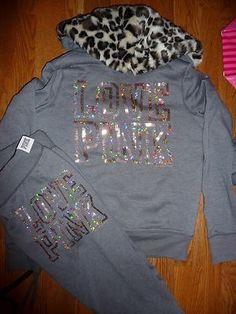 Love pink jacket and sweatpants♥ get me please