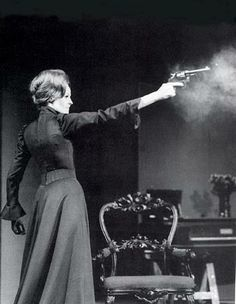 HEDDA GABLER  Maggie Smith as Hedda 1970 National Theatre/Cambridge Theatre.