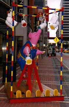 Stage Hams -137a Hams, Cincinnati, Ronald Mcdonald, Stage, Places, Character, Ham, Lettering, Lugares