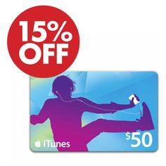 $50 iTunes Gift Card : $42.50 + Free S/H http://www.mybargainbuddy.com/50-itunes-gift-card-40-free-sh-2