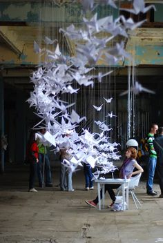 Had something like this in my bedroom when I was a child (100 paper cranes)