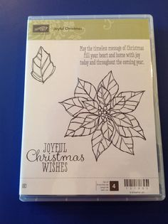 Joyful Christmas stamp set - holiday carryover list 4 stamps