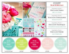 stephanie makes: color combos galore: raspberry delight