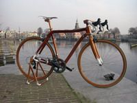 How beautiful can this be? A bike made of wood!! The world is full of dreamers