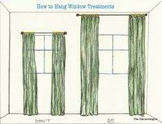 The One Thing You Must Change In Your Home  (how you hang your curtains!) by The Decorologist