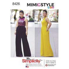 Simplicity Pattern 8426 Misses' & Plus Size Jumpsuit by Mimi G
