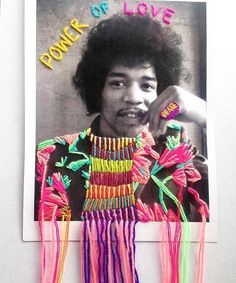sundaes with jimi • by @villanaart • rg from @alohasuperette •  #peaceout #embroideryart