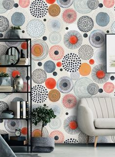 Removable Peel 'n Stick Wallpaper, Self-Adhesive Wall Mural, Watercolor Gray Abstract Pattern, Nursery Baby's Room Decor Peel N Stick Wallpaper, Of Wallpaper, Pattern Wallpaper, Mural Wall Art, Nursery Room Decor, Abstract Pattern, Textured Walls, Colorful Backgrounds, Diy Home Decor