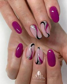 Purple Nail Designs, Classy Nail Designs, Cute Nail Art Designs, Chic Nails, Stylish Nails, Trendy Nails, Lilac Nails, Pink Nail Art, Elegant Touch Nails