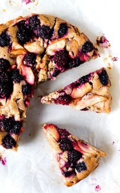 Embrace fall with this Berry Apple Buckle Cake! The fruit buckles into the cake (made of almond & quinoa flour) as it bakes, so soft with the perfect crumb.