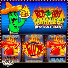 Straight from the casino, this slot will spice up your day! Play Red Hot Tamales at DoubleDown Casino with 200,000 FREE chips when you tap the Pinned Link, or use code FHPBFT