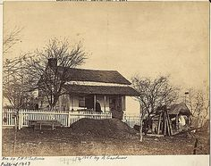 Headquarters of the Army of the Potomac during the Battle of Gettysburg, 1863.  Credit: National Archives.