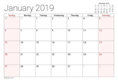 monthly calendar 2018 printable - This calendar ideas strategies was upload at by monthly 2018 Printable Calendar, Calendar 2019 Printable, November Calendar, Excel Calendar, Custom Calendar, Monthly Calendar Template, Holiday Calendar, Printable Calendar Template, 2019 Calendar