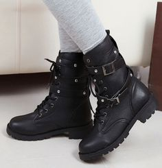 US $19.05 Free shipping More Boots Information about Women Motorcycle Boots Fashion Winter Ladies Vintage Combat Army Punk Goth Ankle Shoes Women Biker PU Leather Short Boots,High Quality Boots from Luo Sir CHINA AMAZON on Aliexpress.com