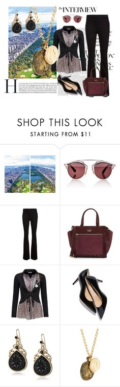 """interview"" by ffendi ❤ liked on Polyvore featuring Gray Malin, Christian Dior, Frame Denim, Kate Spade, Joe Browns, 1928, Jamie Jewellery, women's clothing, women and female"