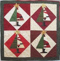 """Santa Baby"" from the Positively Crazy book from Buggy Barn.  Buggy Barn does these great ""stack-n-whack"" methods that make piecing a lot of fun."