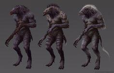 ArtStation - Werewolves, Brent Hollowell