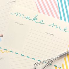 Download these Free Printable Recipe Cards for an easy way to write down your favorite recipes!