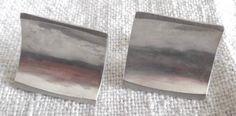 "Mid Century Modernist Sterling Earrings by Japanese Jewelry Maker Janiye' "" for Miye Matsukata"""