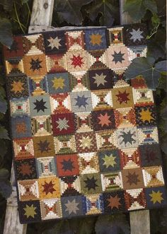 """Primitive Folk Art Quilt Pattern:  Our """"VERY"""" BEST to YOU - Wall Quilt. $8.75, via Etsy."""