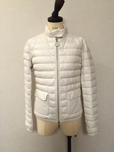 MONCLER DELFI JACKET. White quilted sheep leather down jacket.