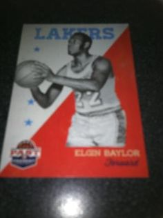 Elgin Baylor Brand New * 2011-12 Past & Present * NBA Basketball Card Los Angeles Lakers Free Ship $2.00