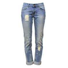 ANINE BING Distressed Jeans ($165) ❤ liked on Polyvore featuring jeans, pants, bottoms, calças, destroyed skinny jeans, distressed boyfriend jeans, ripped jeans, boyfriend jeans and super skinny jeans