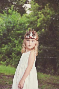 Feather Woodland Crown Bandit by atinyarrow on Etsy, $38.00