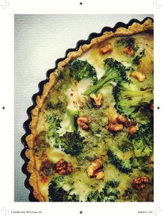 Broccoli and Gorgonzola Quiche - The Happy Foodie