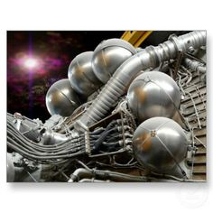Saturn V Rocket Engine postcard Apollo Space Program, Nasa Space Program, Rocket Engine, Jet Engine, Nasa Rocket, American Space, Aerospace Engineering, Space Race, Mechanical Design