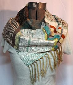 Phia - Handwoven Linden Green, Chocolate & Seafoam by pidge pidge