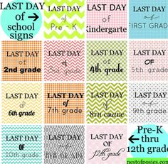 Free Printables: Last Day of School Signs for Kids