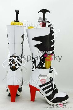 Batman Suicide Squad Harley Quinn Boots Cosplay - COSPLAY IS BAEEE! Tap the pin now to grab yourself some BAE Cosplay leggings and shirts! From super hero fitness leggings, super hero fitness shirts, and so much more that wil make you say YASSS! Cosplay Costumes, Halloween Costumes, Joker And Harley, Harley Batman, Clown Shoes, High Quality Costumes, Trainer Boots, Cosplay Boots, Harley Quinn Cosplay