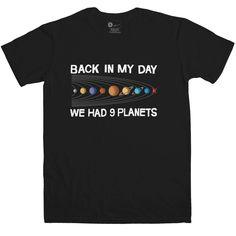 We Had Nine Planets T Shirt - Black / Small