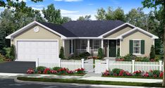 HDC-1200B-1-The Gunter Ridge is a 1,200 sq. ft./ 3 bedroom/ 2 bath house plan that you can purchase for $640.00 and view online at http://www.homedesigncentral.com/detail.php?planid=HDC-1200B-1.