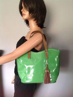Bag Purse Two Piece Fashion Designer Lime Green Fringe Stylish Trendy Slick Chic    eBay