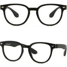 Light Square Men's Women's Plastic Frames Glasses Silver Pieces Dots Matte Black #Unbranded