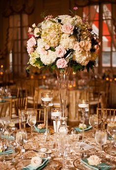 center piece & table setting