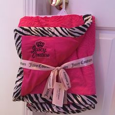 Shop Women s Juicy Couture Pink size OS Other at a discounted price at  Poshmark. Description  Juicy Couture pink zebra baby blanket NEW WITH TAG  Sold by ... c7b7849ea
