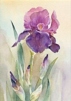 Items similar to tulip painting, tulip art, red tulips, tu Watercolor Pictures, Watercolor Cards, Watercolor Flowers, Watercolor Paintings, Watercolors, Easy Watercolor, Tulip Painting, Painting & Drawing, Botanical Art