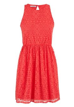 dress in coral ethnic patterned lace (original price, $39) available at #Maurices