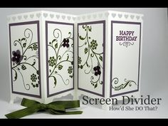 Flowering Flourishes: Fancy Fold Screen Divider Card Video - DOstamping with Dawn, Stampin' Up! Demonstrator