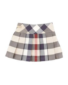 Side-Button Check Kilt, 6-18 Months by Burberry at Neiman Marcus.