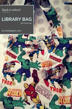 This is a great Sewing Tutorial for a Library Bag with instructions on how to put in a name tag! Perfect for tots going back-to-school.