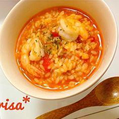 大量に作ったトマトソースでご飯煮ただけの簡単節約料理(´ω`)♡ - 6件のもぐもぐ - トマトリゾット by arisa1994622