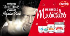 """Participa en """"Meriendas Musicales""""y ¡gana una colección de vasos de #Nocilla de Alejandro Sanz!"""